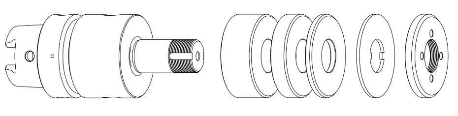 GDS Walter HSK50 wheel adapter and ring set rfq
