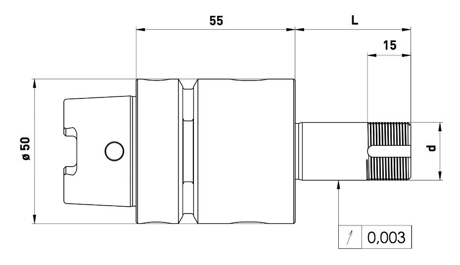 GDS Walter HSK50 wheel adapter dimensions RFQ