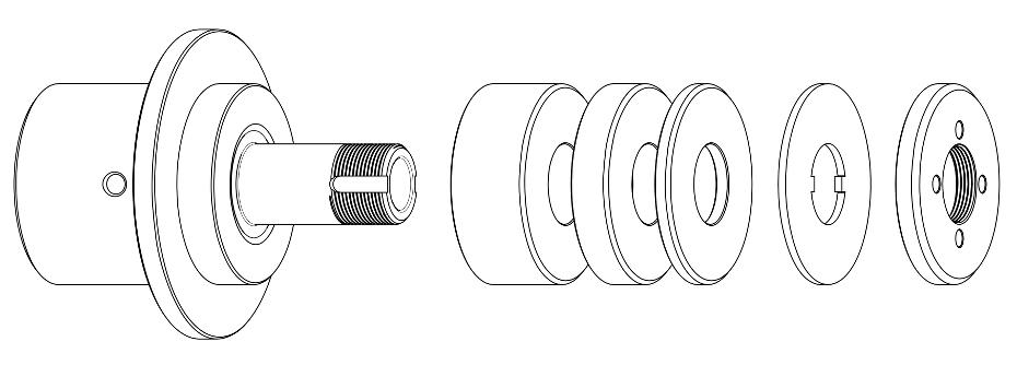 GDS Walter taper fit wheel adapter dimensions w ring set rfq
